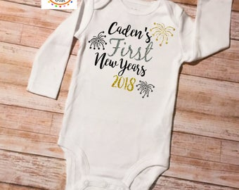 New Year Onesie, New Years Outfit, Custom New Years Onesie, First New Year Onesie, New Years Outfit, 1st New Year Onesie, Baby New Year