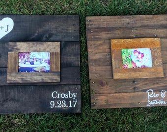 Guest Book Alternative Sign Wood Wedding Decor Custom Pallet Handmade Event