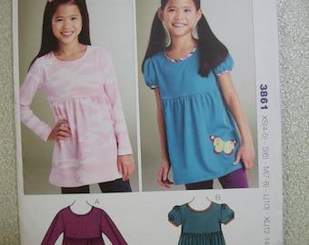 Kwik Sew 3861 Girls XS to XL Butterfly Tops