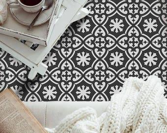 Marlen Tile Stencil - Cement Tile Stencils - DIY Faux Tiles - Reusable Stencils for Home Makeover