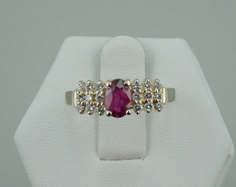 Dazzling Ruby and Diamond 14K Gold Ring #RD14J-GR2