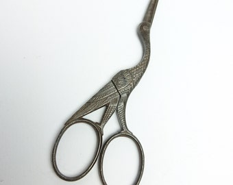 Vintage French Stalk Sewing Scissors