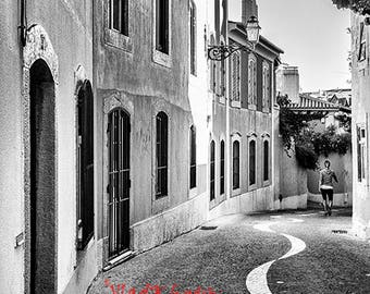 Follow the Line - black and white photography, Fine Art printsToronto, street, architecture, Cascais Portugal, Home décor, Wall décor