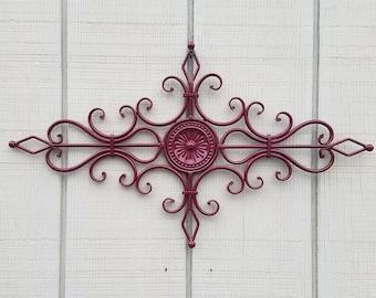 Metal Wall Decor, Wrought Iron Decor, Medallion Wall Decor, Wall Accent  Piece,