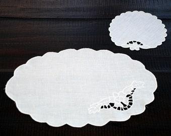 "Sicilian Linen ""Intaglio"" Plate Mat"