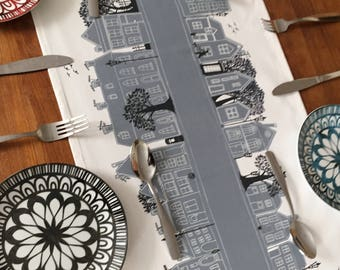 Gray table runner, home decor for your dining table and makes your table center piece look fab. Great wedding gift or housewarming gift