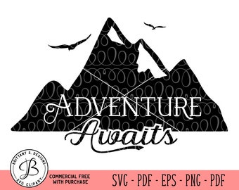 Adventure Awaits svg, Adventure SVG, Camping SVG, Camping cut files, Camping dxf, adventure dxf, svg files for cricut