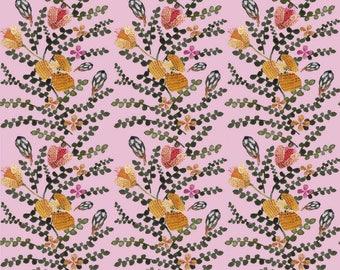 Niittyvilla pink GOTS luomutrikoo