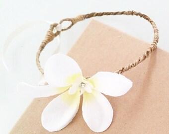 Frangipani Flower Crown