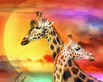 Tier Diamant Malerei Giraffe 5D alle Platz Drill Wasser Drill Stick Malerei Home Dekoration.