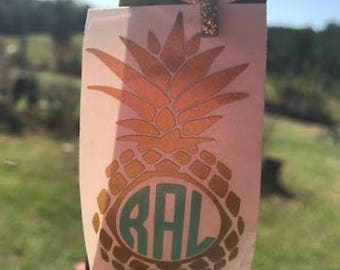 Pineapple Monogram Decal