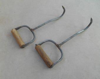 Set of Two Vintage Jensen Bale Hooks