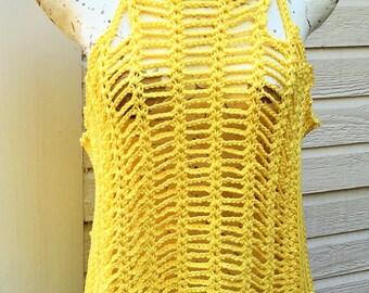 Simplicity in Strings Crochet PDF Pattern Tank Vest Sleeveless Women Teens XS-2X