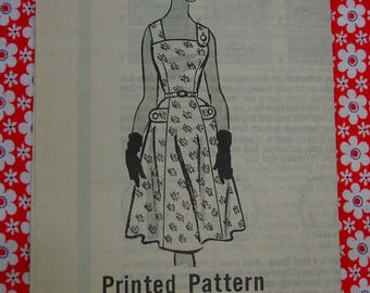 Vintage Pattern c.1950's Mail Order, Cute Sun Dress, Size 18  Uncut