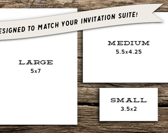 Large Add-On Card for Factory Made Invitation Purchases // Rehearsal, Reception, Registry, Accommodations, Directions, Website