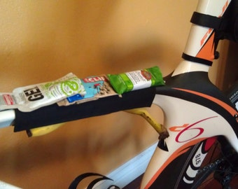 Full Length Stick-it Bike Sleeve for storing nutrition during endurance rides and races, Bike Accessory Storage, Triathlon Nutrition Storage