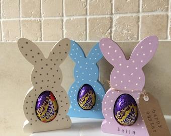 Wooden Easter Bunny egg holder