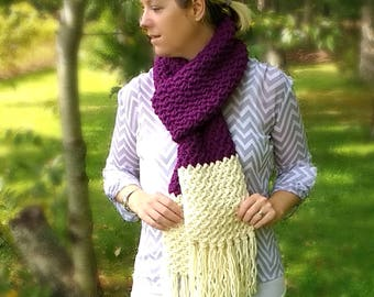 Plum Berry Scarf - Crochet Pattern Only!
