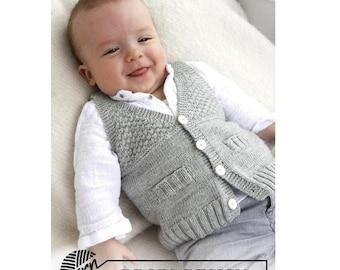 Baby vest V neck - Merino wool
