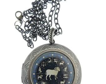 Aries Locket & Gift bag, Astrology Locket, Necklace, Aries Necklace, Aries Jewellery, Locket, Ram, Jewelry, Gift, Jewellery, Jewelry, Gift