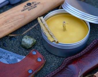 Lífskerti: 100% Natural Viking Bees Wax Survival Candle