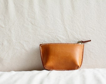 Artemis Leatherware Hand Stitched Leather Coin Case/ Pouch/ Purse