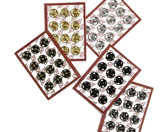 Sets of High Quality Sew-on Snaps, 10mm, 5 Colors Available