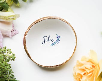 Personalized Jewelry Dish / Valentine's Day Gift / Ring Dish / Bridesmaids Gift / Wedding Gift / Gift for Her / Custom / Mothers Day /