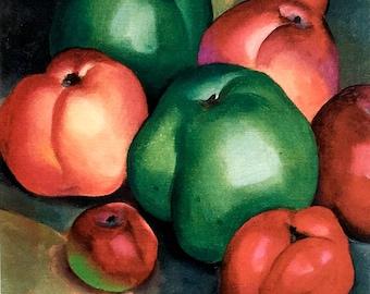 Georgia O'Keeffe / Apple Family A. C. / 1921 / Art / Book Page Print / Published 1990's