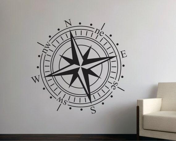 Wandtattoos kompass aufkleber wandtattoo kompass - Wandtattoo kompass ...