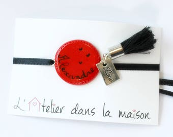 Personalized name charms and Red Medallion bracelet