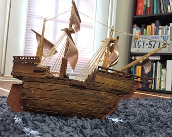 Handcrafted Vintage Pirate Ship - Galleon Wooden Boat Model