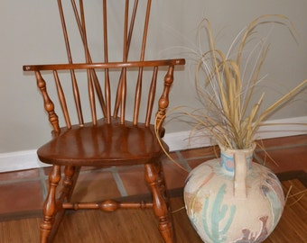 """Bent & Bros., Lady's/Child's """" Windsor """" Rocking Chair.  Mint Condition.  33 1/2""""High 16 1/2""""Wide.Well made,Sturdy Mini Adult look alike"""