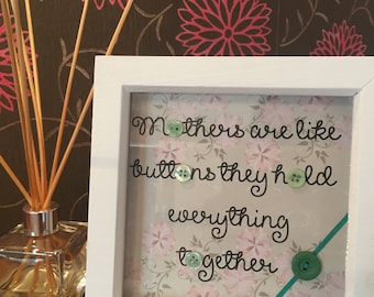 Mothers Buttons Frame