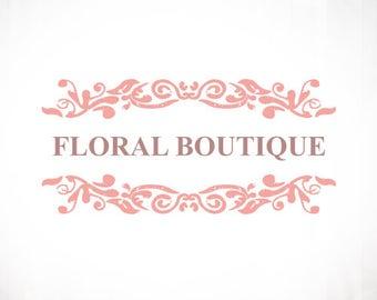 Premade Logo Design • Floral Sandwich
