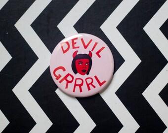 Devil Grrrl Pocket Mirror
