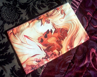 Kitsune Ninetails Fox and Kits Pencil Case Zipper Bag Purse