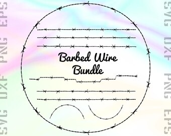 Barbed Wire SVG Files - Barb Wire Clipart - Barbed Wire Cricut Files - Barbed Wire Dxf Files - Barb Wire Cut Files - Barb Wire Png Files