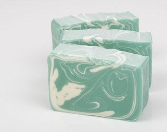 Spearmint Eucalyptus Soap - All Natural Soap Bar - Homemade Soap - Cold Process Soap - Soap For Men - Vegan Soap - Shea Butter Soap
