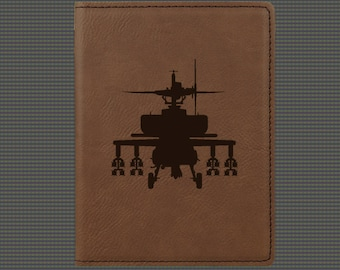 Engraved Passport Cover - Helicopter Designs