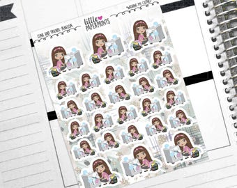 """PENELOPE - """"Laundry: Washing My Clothes"""" Decorative Planner Stickers from the Little Luna and Friends Collection Series"""