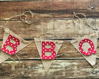 B B Q , Fabric Iron On Appliqe Letters, Baby Shower, Family B B Q, Two Fonts Available