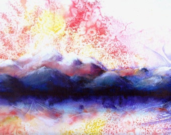 Dramatic Colorado mountain sunset scene -Pagosa Peak 5   - a fine art GICLEE print . Free U.S. shipping.