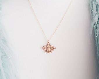 Gold Bee Necklace | Boho Jewelry | Bee Jewellery | Gift