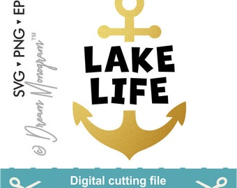 Lake life Svg, Lake bum svg, Anchor svg, Summer svg, Lake svg, Aloha svg, Cutting files for use with Silhouette Cameo, ScanNCut, Cricut