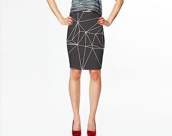 Grey Pencil Skirt / Stretch Pencil Skirt / Stretch Skirt / Gray Tube Skirt /  Gray Skirt / Gray Pencil Skirt / Bodycon SkirtChristmas Gift