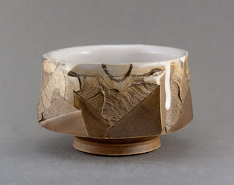 """Wood fired Tea Bowl """"Discovery"""", Yunomi by Mikhail Tovstous"""