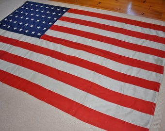 48 Star American Flag, 5' x 8' Cotton Flag Stitched Stars Stripes, Large Flag, Patriotic Red White Blue Decor, Old Glory