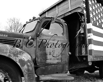 Vintage Truck, God Bless the USA