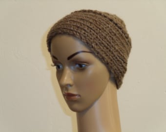 Light brown knitted Cap